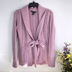 A. Giannetti angora wool blend lavender cable knit
